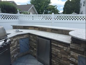 Outdoor Kitchen in Garfield New Jersey by KTE Construction LLC
